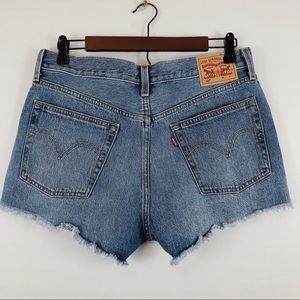 Levis 501 Button Fly High Waisted Shorts